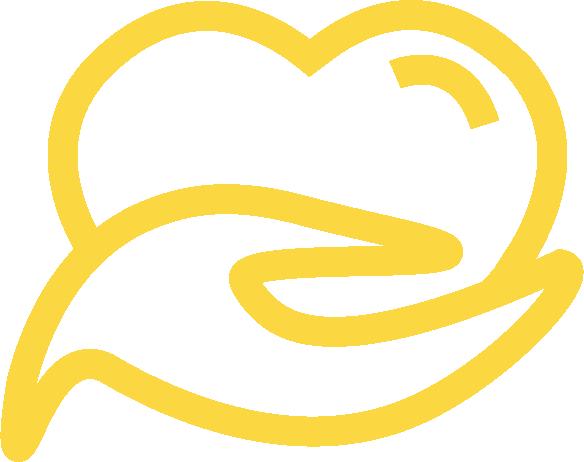 pictogramme coeur sur la main, artisanal