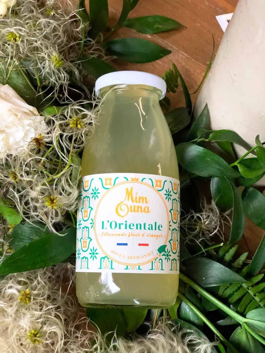 Citronnade artisanale Mimouna : L'orientale, citronnade à la fleur d'oranger