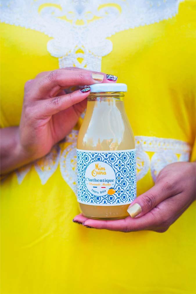 Citronnade bio artisanale Mimouna : L'Authentique, citronnade à la menthe